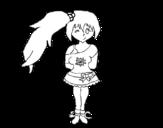 Dibujo de Menina vanidosoa