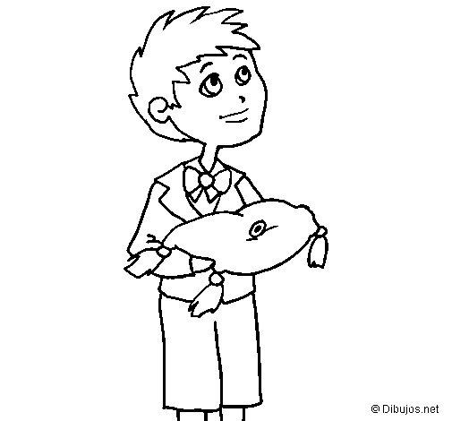 Desenho de Menino para Colorir