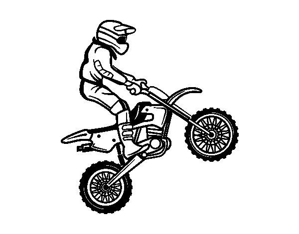 Desenho de Moto trial para Colorir