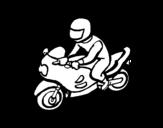 Desenho de Motociclista para colorear