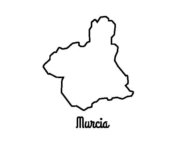 Desenho de Murcia para Colorir