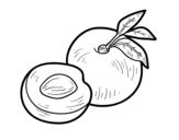 Desenho de Nectarina para colorear