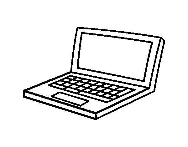 Desenho de Netbook para Colorir