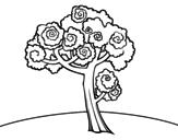 Desenho de Nogueira para colorear