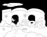 Desenho de Nome de Maria para colorear