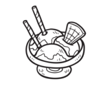 Desenho de O copo de sorvete para colorear
