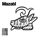 Desenho de Os dias astecas: veado Mazatl para colorear