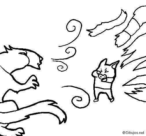 Desenho de Os três porquinhos 7 para Colorir