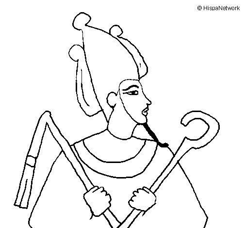 Desenho de Osiris para Colorir
