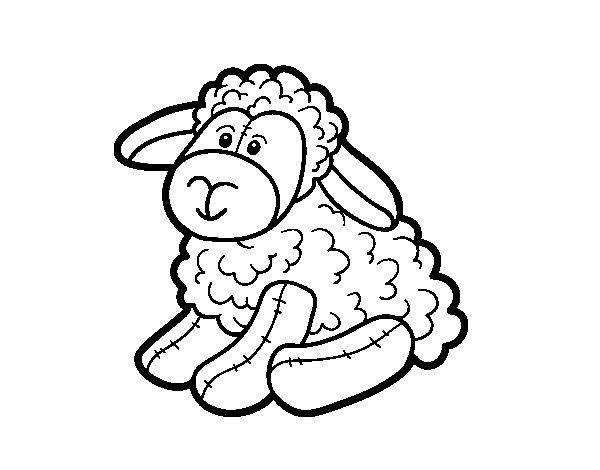Desenho de Ovelhas de pelúcia para Colorir