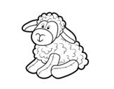 Desenho de Ovelhas de pelúcia para colorear