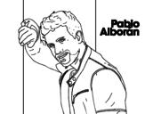 Desenho de Pablo Alborán cantante para colorear