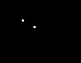 Desenho de Pêssego com a língua de fora para colorear