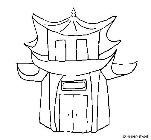 Desenho de Pagode para Colorir
