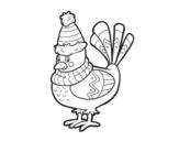 Desenho de Pássaro quente para colorear