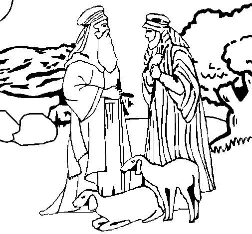 Desenho de Pastores para Colorir