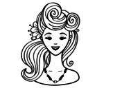 Desenho de Penteado pin-up  para colorear