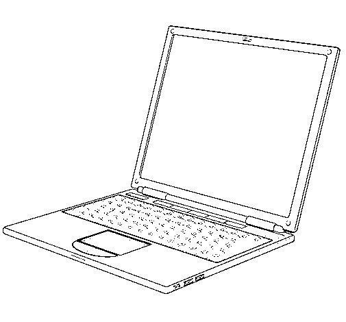 Desenho de Portátil para Colorir