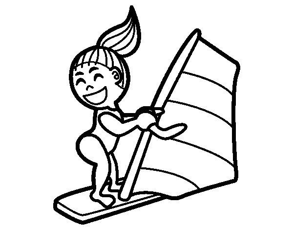 Desenho de Prancha à vela para Colorir