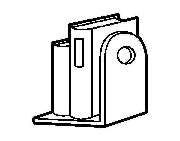Desenho de Prateleira de livros para Colorir