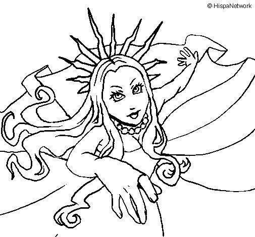 Desenho de Princesa nova iorquina para Colorir
