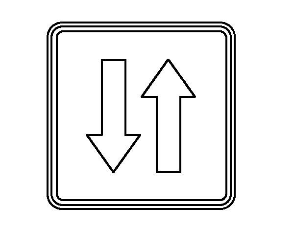 Desenho de Prioridad respecto al sentido contrario para Colorir