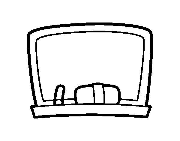 Desenho de Quadro negro escola para Colorir
