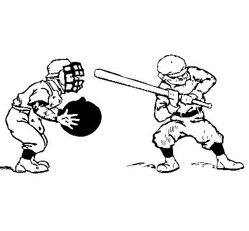 Desenho de Receptor e batedor para Colorir