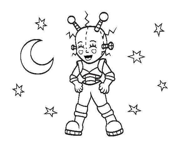 Desenho de Robô astronauta para Colorir