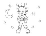 Desenho de Robô astronauta para colorear