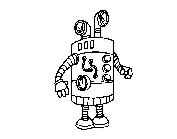 Desenho de Robô periscópio para Colorir