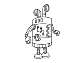 Desenho de Robô periscópio para colorear