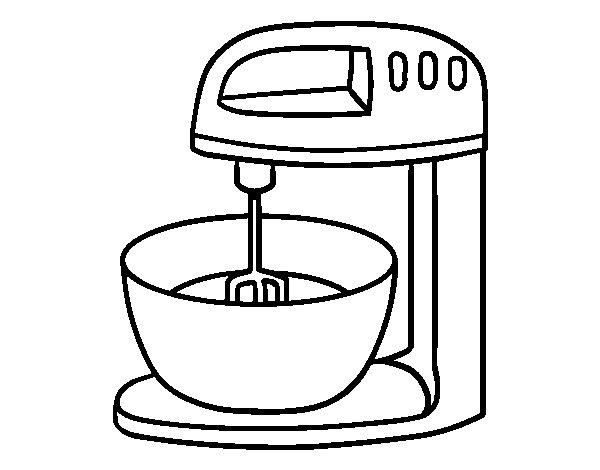 Desenho de Robot de pastelaria para Colorir