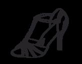 Desenho de Sapato de festa para colorear