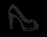 Desenho de Sapato de plataforma para colorear