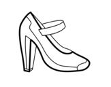 Desenho de Sapato de salão para colorear