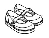 Desenho de Sapatos da menina  para colorear