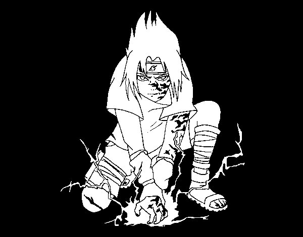 Desenho de Sasuke para Colorir