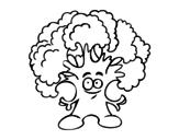 Desenho de Senhor brócolos para colorear