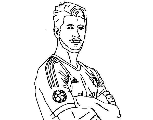 Desenho de Sergio Ramos para Colorir