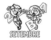 Desenho de Setembre para colorear