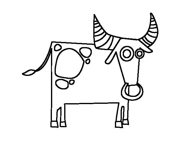 Desenho de Signo do Touro para Colorir