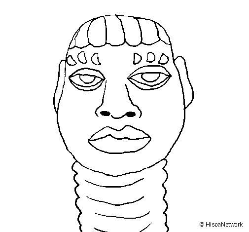 Desenho de Simples estátua de mulher para Colorir