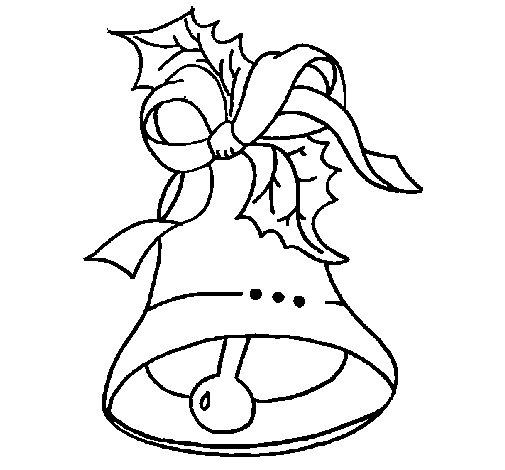 Desenho de Sino de natal para Colorir