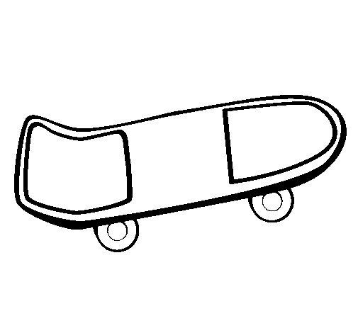 Desenho de Skate para Colorir