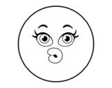 Desenho de Smiley duvidoso para colorear