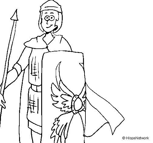 Desenho de Soldado romano II para Colorir