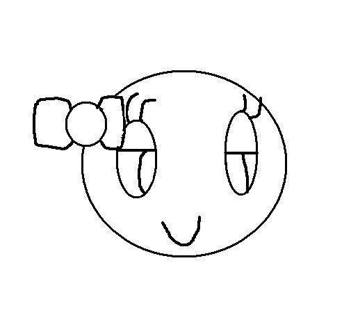 Desenho de Sorriso para Colorir