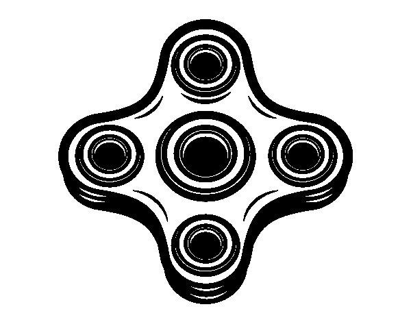 Desenho de Spinner de 4 pontos para Colorir