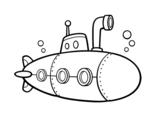 Desenho de Submarino espião para colorear